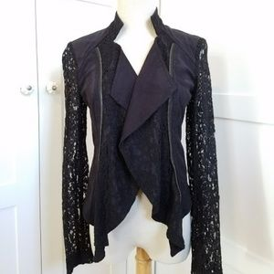 NEW INC International Concepts Black lace jacket